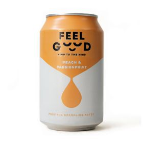 Peach & Passionfruit Fruitful Sparkling Water 12x330ml