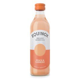 Kombucha Peach & Turmeric (Bottle)  - Organic 12x275ml