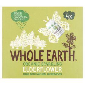 4 pack Sparkling Elderflower - Organic 6x4x330ml